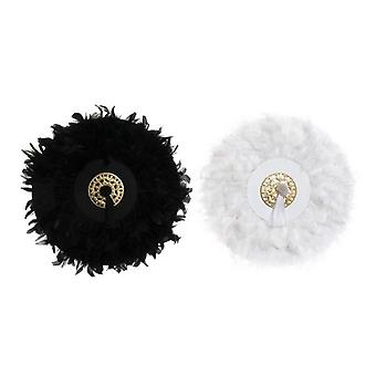 Wall Decoration Dekodonia Polyester Feathers Chic (2 pcs)