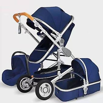 3 In 1 Hot Mom Stroller Luxury Travel Pram Carriage Basket