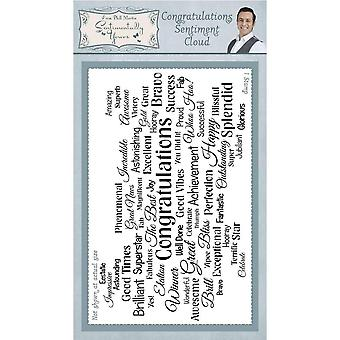 Sentimentally Yours Congratulations Sentiment Cloud Rubber Stamp
