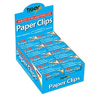 Tiger Stationery Paper Clips (Pack of 1200)