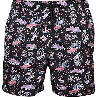 Bjorn Borg Summer Breeze Print Swim Shorts, Black