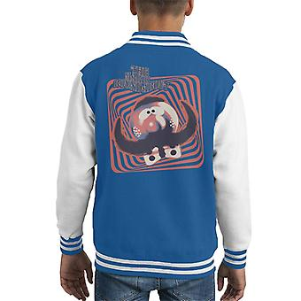 The Magic Roundabout Zebedee Psychedelic Lines Kid's Varsity Jacket