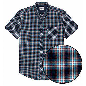 BEN SHERMAN Ben Sherman Mens Big Size Mini Check Short Sleeve Shirt