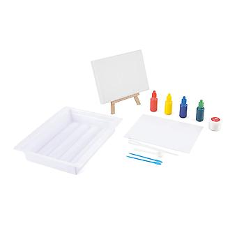Made It! TY6134 Marbling Craft Set, Kids Canvas Painting Kit