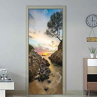 Natural Scenery Door Wallpaper ( Set 3)