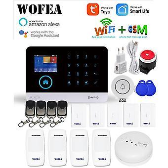 Wofea Draadloze Wifi Gsm Alarmsysteem Rfid Inbraakbeveiliging Lcd Touch Keyboar