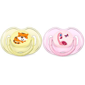 Avent Pacifiers Classic Animals 0 to 6 months 2 pcs