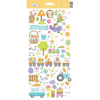 Doodlebug Design Hippity Hoppity Icons Aufkleber