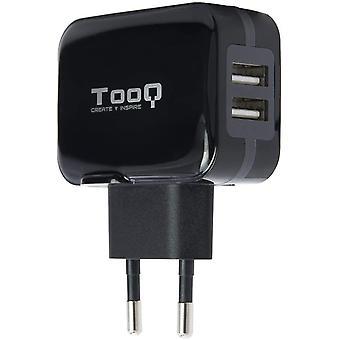 TooQ TQWC-1S02 - Ladegert mit 2xUSB (5V-3,4A, 17W), mit AirPower Technologie, Zertifizierung: CE ,