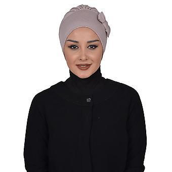 Turban en coton avec détails de mouche - Halima