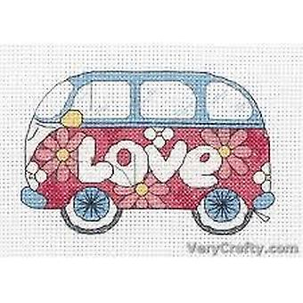 Anchor Counted Cross Stitched Kit ACS210 Camper Van New 8x11cm