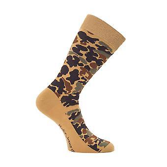 Nudie Jeans Co Olsson Organic Cotton Socks - Camo