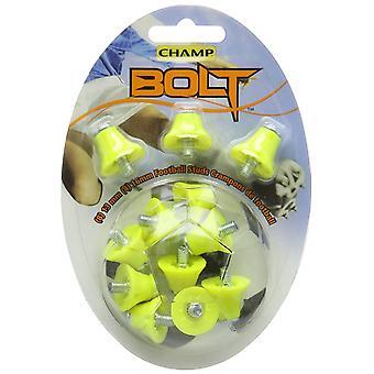 Champ Bolt 1 Färg Nylon Steel Tip Fotboll /Rugby Studs Grön