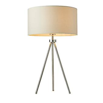 Endon Lighting Tri Table Lamp With Ivory Linen Shade
