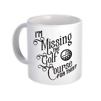 هدية القدح : في عداد المفقودين للجولف لهذا لاعب غولف