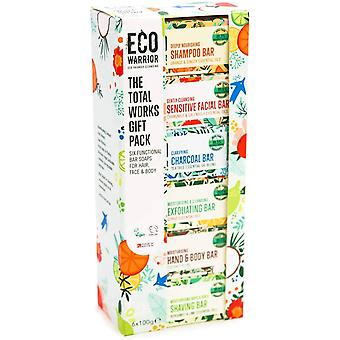Eco Warrior - Total Works 6 x100g Soap Pack | Cleansing Solid Bars