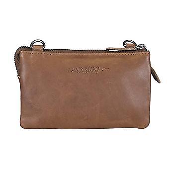 Arrigo Schultertasche aus Leder, Leather Clutch. Unisex-Adult, Cognac, 3x10x17.5 cm (B x H x T)