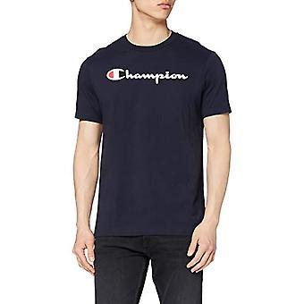 Campeão Masculino - Camiseta clássica do logotipo - Azul, XL