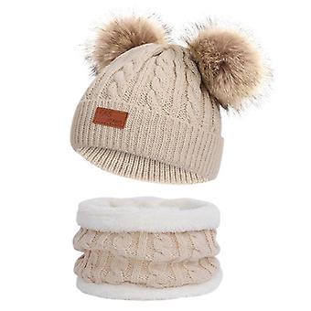 مجموعات وشاح القبعة الشتوية الشتوية للأطفال