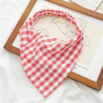 Women's hair band square plaid elastic triangular binder