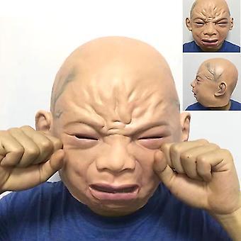 Latex gråte baby maske Halloween maske