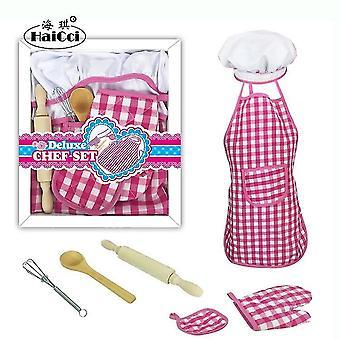 Children's cake cooking baking apron mold set diy kitchen toys