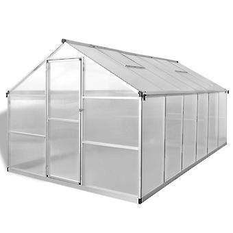 vidaXL Versterkte kas aluminium 9.025 m²