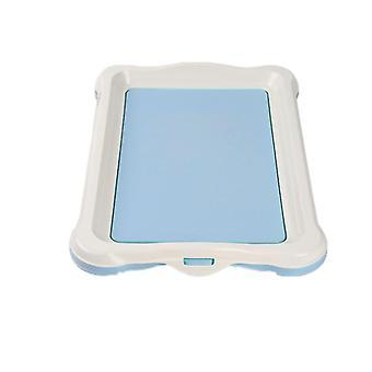 S 48 * 34 * 4cm الأزرق الكلب المحمولة تدريب المرحاض قعادة ال الحيوانات الأليفة في الأماكن المغلقة حوض az2614