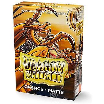 Dragon Shield Matte Orange Japanese Size Card Sleeves - 60 Sleeves
