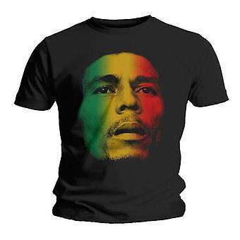 Bob Marley - Cara Unisex Camiseta Media - Negro