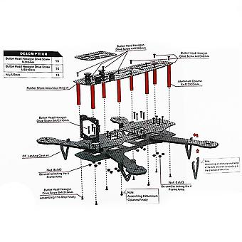 Mini quadcopter de fibra de carbono mini 250 fpv quadro mini quad frame para 250 C250