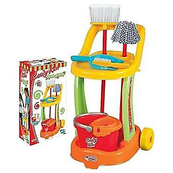 Dede كاندي وكين الاطفال تنظيف عربة مجموعة لعب مكنسة للأطفال متعددة الوظائف 3 +