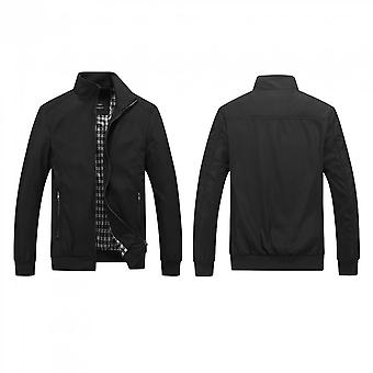 Spring And Autumn Stand-up Collar Men Jacket Clothing Loose Coat Long Sleeved