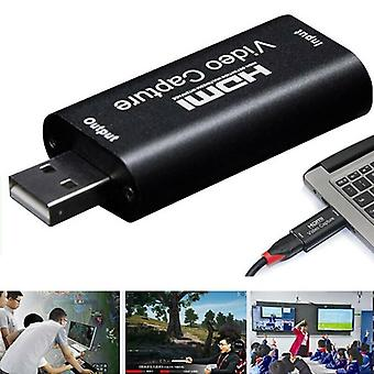HDMI Video Capture Card USB 2.0 / 1080p HD Akquisition Video Live Streaming / Spiel