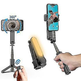 Laajennettava langaton Bluetooth Selfie Stick -kolmijalka, puhelimen ravistelunestoaineen ampumisen stabilointiaine (musta)