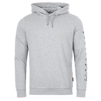 Napapijri Badas Organic Cotton Blend Hooded Sweatshirt - Grey Melange