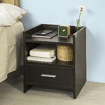 SoBuy FBT66-BR, Nachttischständer mit Schublade