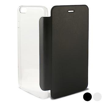 Folio mobiele telefoon hoesje Iphone 6/6s crystal transparant