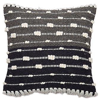 "Spura Home Black Dots Stripe Contemporary Style 18""x18"" Pillow Cushion"