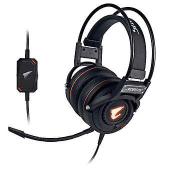 Headphones with Microphone Gigabyte AORUS H5 Black
