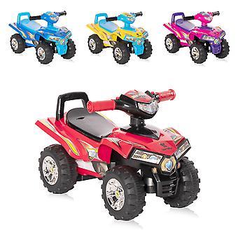 Lorelli Kids Slide Car ATV Beep Rugleuning Quad Design Opbergvak