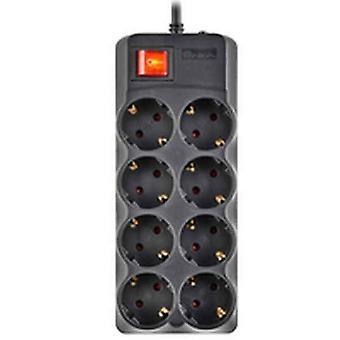 Schuko 8 Way többfoglalatos adapter NGS SURGE POLE 800
