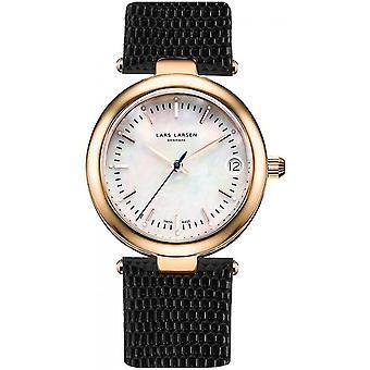 LLarsen (Lars Larsen Black Genuine Leather) 126-RG/Black Women's Watch