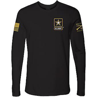 Grunt نمط الجيش -- الأساسية شعار كامل طويل الأكمام تي شيرت -- أسود
