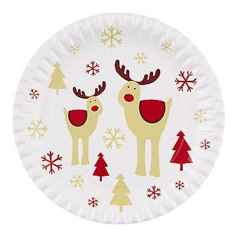 Rocking Rudolf - Paperilautaset