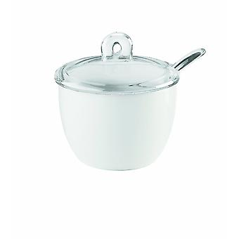 Storage tanks gocce sugar bowl and spoon  set of 1  clear