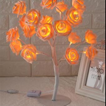 Lampada da tavolo a forma di rosa fiore albero di rose luce decorativa per soggiorno camera da letto dfds889(5)