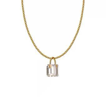 Niche Designer Coldframe Transparent Crystal Zircon Mini Lock 925 Silver Clavicle Chain Necklace Pendant Women Jewelry Gifts