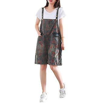 Woman Plus Size Overalls Cropped Capri