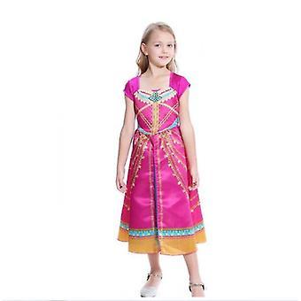 Aladdin Girl Dance Dress Jasmine Princess Dress Cos Costume
